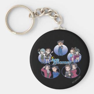 Ace Attorney Chibi's Keychain