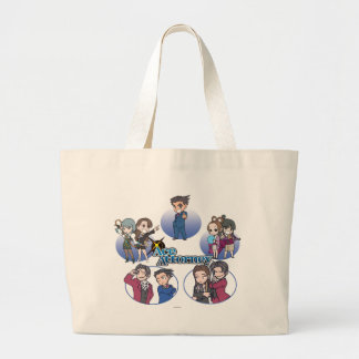 Ace Attorney Chibi's Large Tote Bag