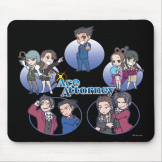 Ace Attorney Chibi's Mouse Pads