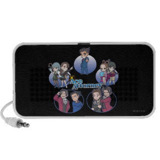 Ace Attorney Chibi's Portable Speakers