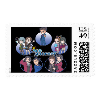 Ace Attorney Chibi's Postage