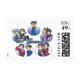 Ace Attorney Chibi's Postage Stamps