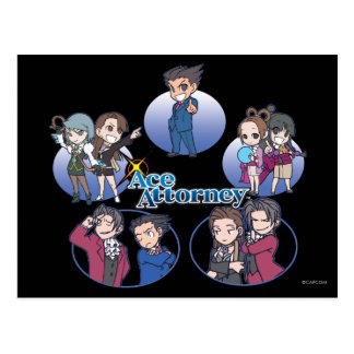 Ace Attorney Chibi's Postcard