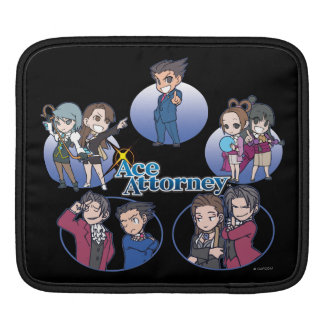 Ace Attorney Chibi's Sleeve For iPads