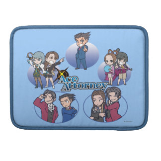 Ace Attorney Chibi's Sleeves For MacBook Pro