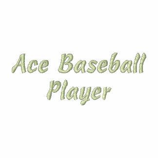 Ace Baseball Player Embroidered Shirt