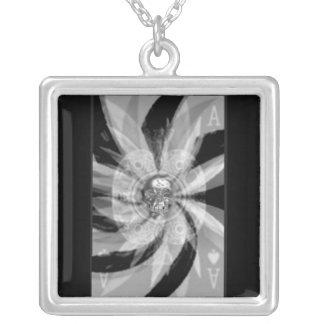 ace card square pendant necklace