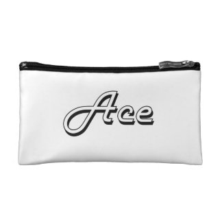 Ace Classic Retro Name Design Makeup Bags