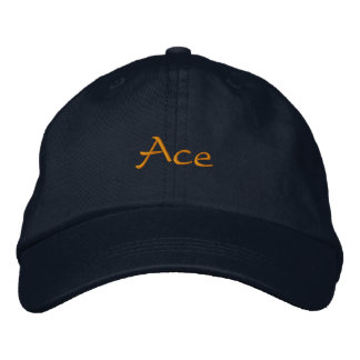Ace Embroidered Baseball Cap