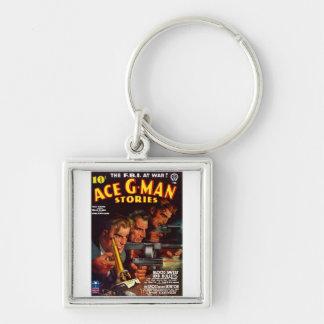 Ace G-Man Stories Keychain
