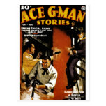 Ace G-Man Stories Post Card