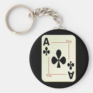 Ace Basic Round Button Keychain