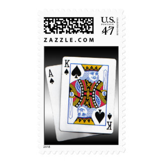 Ace & King of spades Stamp