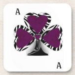 Ace of Clubs Cork Coaster