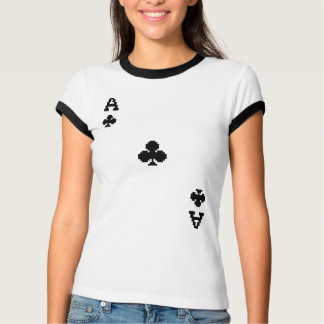 Ace of Clubs Pixelated Clubs Tshirts