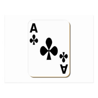 Ace of Clubs Playing Card Postcards