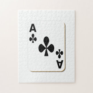 Ace of Clubs Playing Card Jigsaw Puzzle