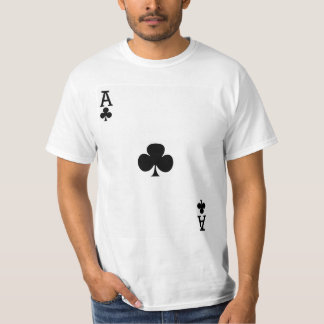Ace of Clubs Playing Card T-Shirt
