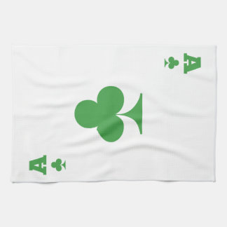 Ace of clubs towel