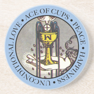 Ace of Cups Coaster with Text