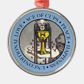 Ace of Cups Ornament with Text