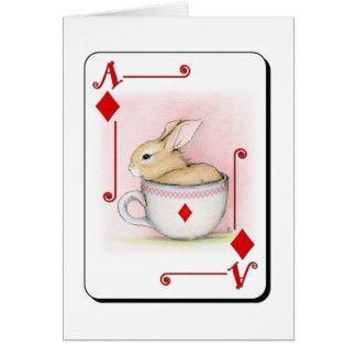 Ace of Diamonds Greeting Card