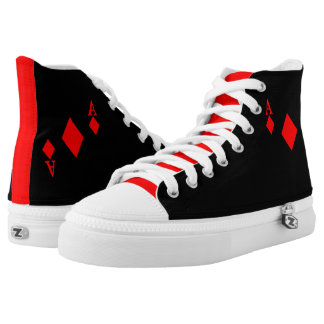 Ace of Diamonds High-Top Sneakers