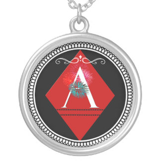 Ace of Diamonds Monogram Pendant