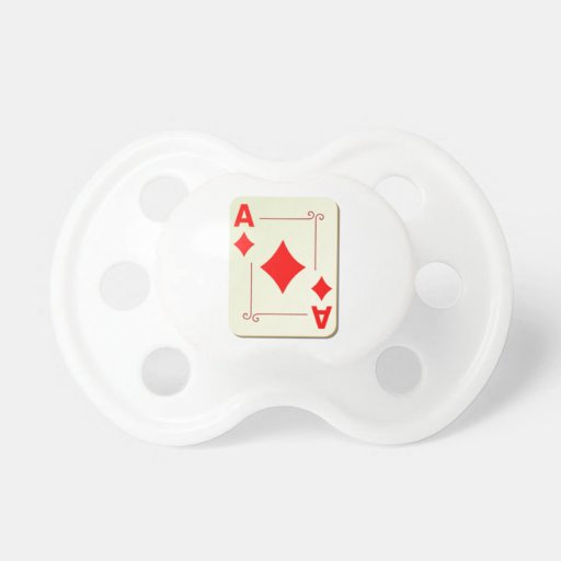 Ace of Diamonds Playing Card Baby Pacifier