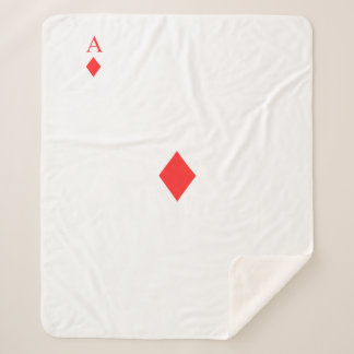 Ace of Diamonds Sherpa Blanket