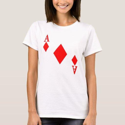 Zazzle Ace of Diamonds T-shirt