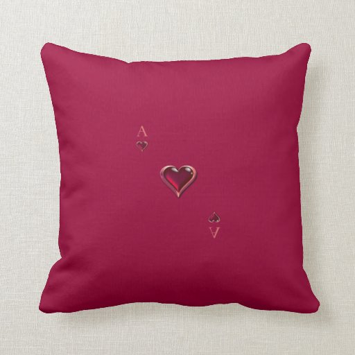 Ace of Hearts American MoJo Pillow