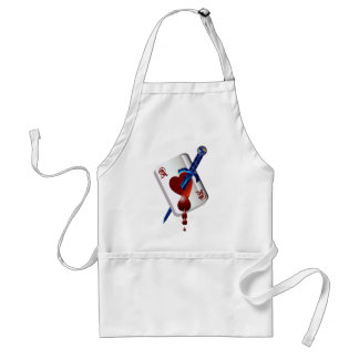 Ace Of Hearts and Dagger  Apron