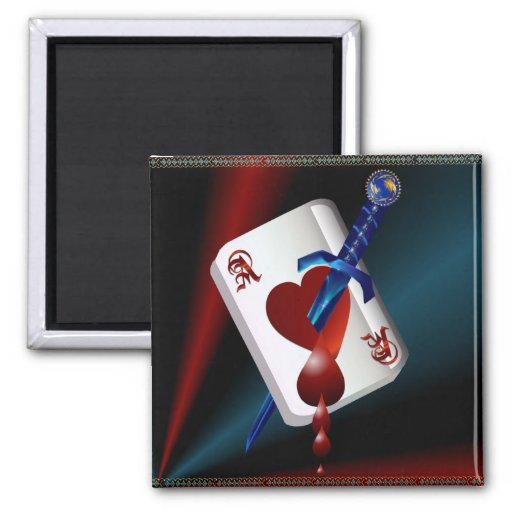 Ace Of Hearts and Dagger  Magnet