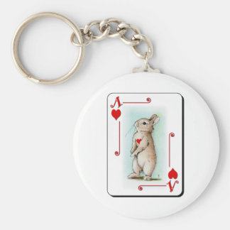 Ace of Hearts Basic Round Button Keychain