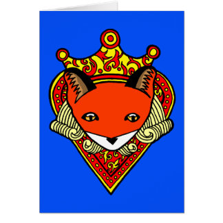 Ace of Hearts Blue Blank Note Card