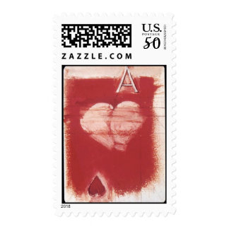 Ace of Hearts Cards Table Game Invitation Stamps