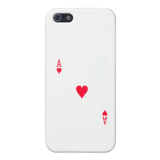 Ace of Hearts Cell Phone Color iPhone SE/5/5s Case