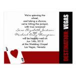 Ace of Hearts Destination Vegas Wedding Invitation Post Card