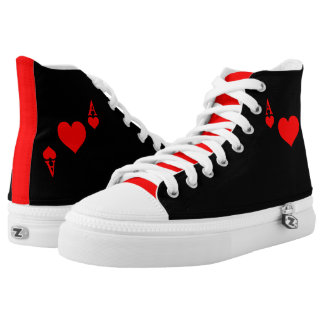 Ace of Hearts High-Top Sneakers