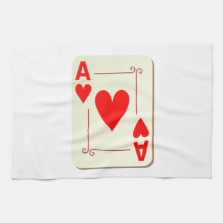 Ace of Hearts Playing Card Kitchen Towel