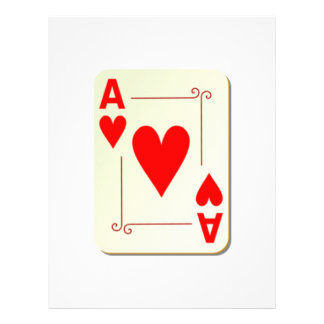 Ace of Hearts Playing Card Letterhead Template