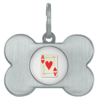 Ace of Hearts Playing Card Pet Name Tag