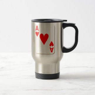 Ace of Hearts Playing Card Travel Mug