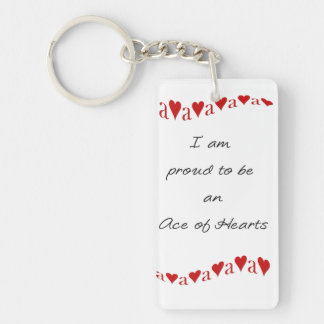 Ace of Hearts Rectangle Keychain