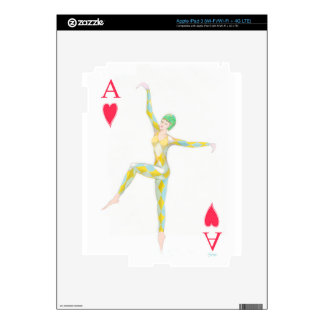 ace of hearts vintage art deco style playing card iPad 3 skins