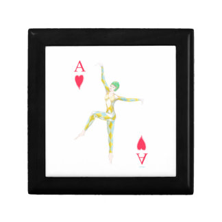 ace of hearts vintage art deco style playing card keepsake box