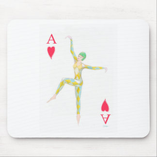 ace of hearts vintage art deco style playing card mouse pad
