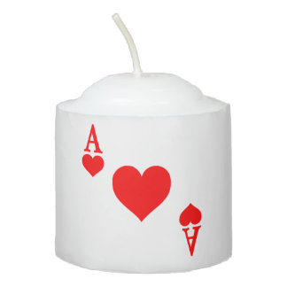 Ace of Hearts Votive Candle