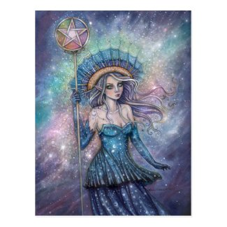 Ace of Pentacles Tarot Art by Molly Harrison Postcard